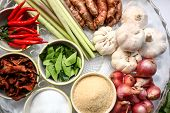 Thai Food Cooking Ingredients, Asian Cuisine Ingredients, Cooking Concept poster