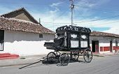 old black hearse