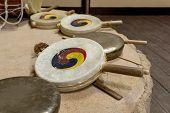 Sogo, Traditional Korean Percussion, Double-headed Frame Drum Membranophone And Kkwaenggwari, A Smal poster
