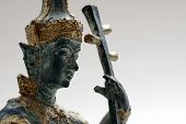 Hindu God Statuette Playing Stringed Instrument