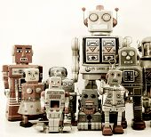 foto of tin man  - robot group - JPG