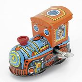 stock photo of lithographic  - old tin toy train - JPG
