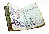 old passport with visas