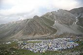 Exodus: Piligrims' camp in the Himalayas