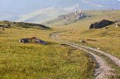 Road to the mountains in Ossetia