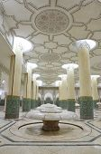 Interiors (ablution hall)  of the Mosque of Hassan II in Casablanca, Morocco