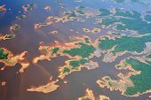 Aerial view on Orinoco river in Venezuela