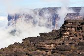 Mount Roraima landscape  with clouds background