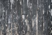Grungy Background Of Peeling Flaking Black Paint On Wooden Board poster