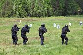 image of kalashnikov  - Special Forces tactical exercises - JPG