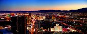 LAS VEGAS - MAR 4: City skyline panorama after sunset marking the start of the fabulous night life o
