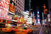 NEW YORK CITY - SEP 5: Times Square, featured with Broadway Theaters and huge number of LED signs, i