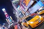 NEW YORK CITY - SEP 5: Times Square, featured with Broadway Theaters and  animated LED signs, is a s