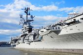 NEW YORK CITY, NY - Nov 2: USS Intrepid (CV/CVA/CVS-11) is one of 24 Essex-class aircraft carriers b