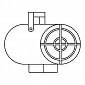Heat Gun Icon. Outline Illustration Of Heat Gun Icon For Web poster