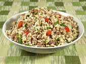 stock photo of giblets  - Dirty rice is a delicious traditional Cajun rice dish which is made  - JPG