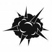 Power Explosion Icon. Simple Illustration Of Power Explosion Icon For Web poster