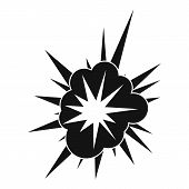 Nucleate Explosion Icon. Simple Illustration Of Nucleate Explosion Icon For Web poster