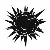 Terrible Explosion Icon. Simple Illustration Of Terrible Explosion Icon For Web poster