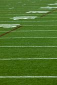 An Artificial turf American football field - vertical