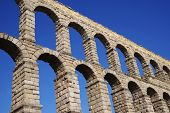 Roman aqueduct of Segovia, Spain, declared World Heritage Sites by UNESCO, Europe poster