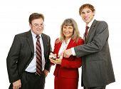 Negócios equipe Pda