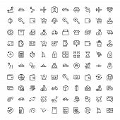 Online Shopping Flat Icon Set. Single High Quality Outline Symbol Of Info For Web Design Or Mobile A poster