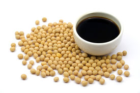 pic of soy sauce  - Soy sauce with soy beans - JPG