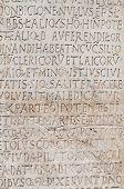 Commemorative plaque. Viterbo. Lazio. Italy.