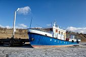 Boat In Frozen Baikal