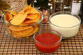 Salsa Nachos And Cheese Dip