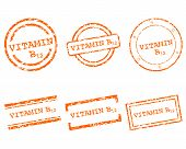 picture of b12  - Detailed and accurate illustration of vitamin B12 stamps - JPG