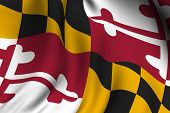 Rendered Maryland Flag