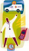 Paramedic; Ambulance; Clock