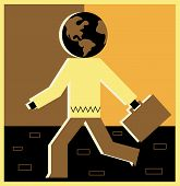 Illustration Of A Worldly Businessman