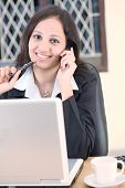 Indian Business Woman Talking On Cellphone