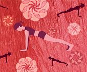 A Woman Doing The Plank Pose