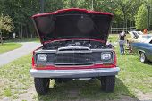 Red 1979 Jeep Pickup Truck Engine