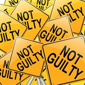 stock photo of gullible  - Illustration depicting many roadsigns with a not guilty concept - JPG
