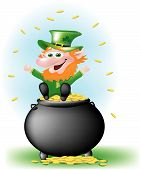Leprechaun On Pot