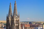Gothic Pinnacles Of Burgos Cathedral. Spain