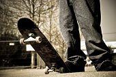 Skateboarder Legs Closeup