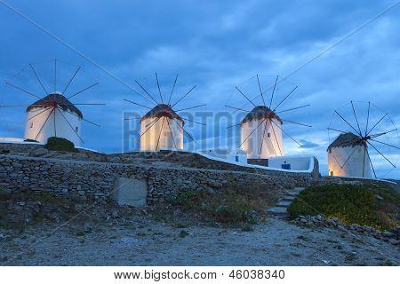 Постер, плакат: Миконос острова в Греции, холст на подрамнике