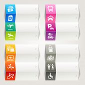 Rainbow - Airport and Travel icons / Navigation template
