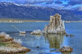 stock photo of square mile  - Clouds over Mono Lake - JPG
