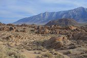 foto of mt whitney  - Alabama Hills are a  - JPG