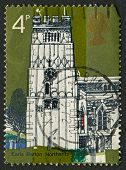 UK - CIRCA 1972: A stamp printed in UK shows image of the Village Chruches, All Saints, Earls Barton, Nothants,, circa 1972.