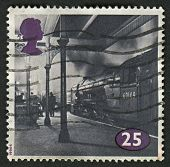 UK - CIRCA 1994: A stamp printed in UK shows image of the Class A1 No. 60149 Amadis at Kings Cross,