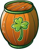 St Patrick's Day Beer Barrel