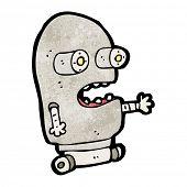 Cartoon hässlichen kleine Roboter